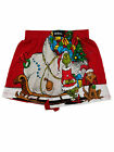 Dr. Seuss Mens Red Grinch & Max Christmas Sleigh Holiday Boxer Shorts