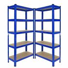 HEAVY DUTY1.5M 5 TIER GARAGE METAL WORKBENCH RACK STORAGE BOLTLESS SHELVING UNIT