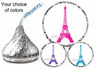 216 EIFFEL TOWER PARIS BIRTHDAY PARTY HERSHEY KISS LABELS STICKERS