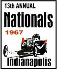 1967 NATIONALS INDIANAPOLIS VINYL DECAL (A4760)