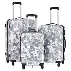 3PCS Luggage Travel Set Bag ABS+PC Trolley Suitcase 4 Wheels w/ Coded Lock NEW