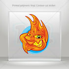 Decal Sticker Evil Flame Face Atv Bike Garage bike polymeric vinyl mtv XR933