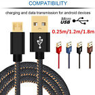 Strong Denim Gold Plug Micro USB Data Sync Quick Charger Cable For Android Phone