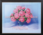 Flowers With Pearls DIY bead embroidery beading on needlepoint needlework kit