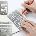 Hollow Multi-purpose Ruler Template Notebook DIY Journal Graphic Stationery Rule