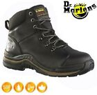 Mens DR MARTENS Womens Leather Work Safety Steel Toe Cap Shoes Hiker Boots Sz