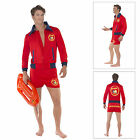 Smiffys Mens Official Licensed Baywatch Lifeguard 90s Stag Fancy Dress Costume
