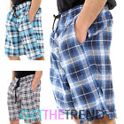 3 Pack Mens Woven Check Print Polycotton Shorts Long Loungewear Trunks Boxers