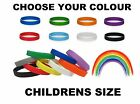 Plain CHILD Size Silicon Wristband In Choice of Colours - UK Distributor