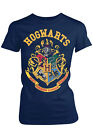 Harry Potter Official Licensed Ladies Hogwarts Crest Graphic Print Slim Fit Tees