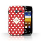 Personalisiert Individuell Tupfen Polka Hülle Samsung Galaxy Y Duos/S6102/Rot