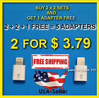 Android to iPhone Charger Converter 2pc 8 Pin Adapter Charging Sync Data Apple