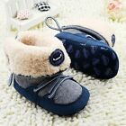 0-18 Months Baby boy Winter Warm Boots Lace Up Soft Sole Shoes Infant Toddler
