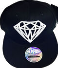 Diamond snapback caps, mens, ladies flat peak baseball hats, hip hop bling drip