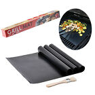 Set of 3 Sheets Non-stick BBQ Grill Mat Works on Gas Charcoal and Electric Grill