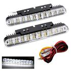 2X 30 LED Car Daytime Running Light DRL Driving Lamp Turn Signal Indicator Y7X6