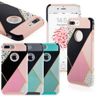 For iPhone 7 Plus/ 6S Plus Grid Shockproof Protective Hybrid Hard Case Cover