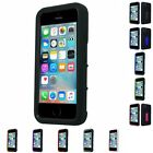 For Apple iPhone 5/5S/SE SHOCKPROOF Phone Case Hybrid Hard Soft Cover With Stand
