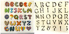 CLASSIC LETTER ALPHABET IRON ON SMOOTH TRANSFER PATCHES FOR CLOTHES UK DISPATCH