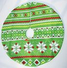 """NEW MINI TREE SKIRT Knit 18"""" X 19"""" Christmas Tree or Other Decorative Use Green"""