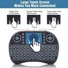 i8 2.4Ghz Mini Wireless Keyboard Backlit Controls Touchpad for Android TV BOX PC