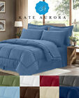 8 Pc Hotel Down Alternative Bed in a Bag Comforter Set - Assorted Colors & Sizes image