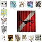 Polyester Bathroom Shower Curtain Sheet Panel with 12pcs Hooks 15 Patterns