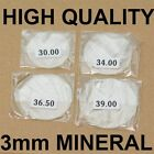 3mm thick MINERAL crystal glass glasses flat 30mm-40mm large new watch crystals
