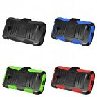 For ZTE Stratos Allstar LTE Case MILITARY Rugged Armor With Belt Clip Holster