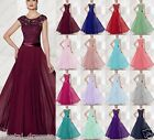 New Design Lace Formal Evening Ball Gown Party Prom Bridesmaid Dresses Size 6-24