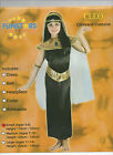 Girls Cleopatra Egyptian Queen Fancy Dress Up Costume Black & Gold