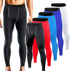 Mens Sports Exercise Compression Long Pants Workout Base Layers Running Tights