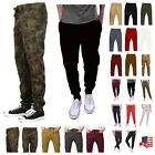 Mens Fashion Twill Jogger Pants Hip Hop Workout Slim Trousers Casual Sweatpants