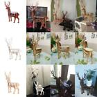 3D Wood Wooden DIY Models Animal Wildlife Deer Desktop Pen Holder Sculptures