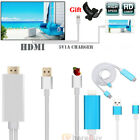 """8 Pin Lightning to HDMI Lead HDTV AV Adapter 75"""" Cable iPad iPhone X 6 7 8 Plus"""