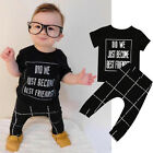 Toddler Newborn Baby Girl Boys T-shirt Tops+Long Pants Outfits Clothes 2PCS Set