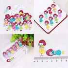New Fashion Bulk Craft Sweet Girl Sewing Wooden Buttons Scrapbooking 2 Holes