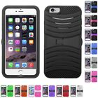 HEAVY DUTY CASE RUGGED ARMOR IMPACT PROTECTOR DUAL LAYER COVER STAND FOR PHONES