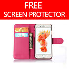 FLIP LEATHER CASE COVER FOR APPLE IPHONE 4 4S  FREE SCREEN PROTECTOR