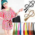 Dress New Hot Women PU Leather Wooden bead Feather Weave Twisted Rope Waist Belt