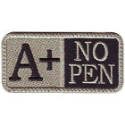 BLOOD TYPE / NO PEN SAND EMBROIDERED PATCH