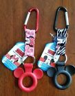 Disney Mickey or Minnie Water Bottle Holder Key chain Carabiner Backpack Clip