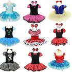 Girl Kids Minnie Mouse Party Cosplay Costume Fancy Dress + Ear Outfit Tutu Skirt