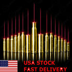 US BoreSighter 12GA/.45/9MM/7.62X39/.223REM/30-30WIN Red Laser Bore Sight Brass