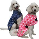 NEW Minky Polar Fleece Dog Coat - Dark Blue Polka Dot