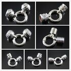 2pcs White K Alloy Clasp End Cap Connector Jewelry Making Findings Accessories