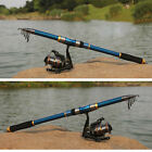 ED Professional Carbon Fiber Telescope Fishing Rod Travel Sea Spinning Pole 2.1m