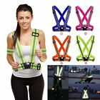 Adjustable Safety Security High Visibility Reflective Vest Jacket For Night Run
