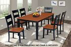 "38"" x 66""  RECTANGULAR DINING TABLE W/. 18"" LEAF IN BLACK & CHERRY"