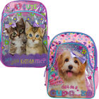 "16"" Girls Backpack Glitter Cute Baby Animal School Travel Kids Small 3D Book Bag"